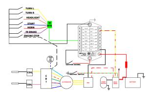 CX500 MUnit & MButton Wiring Diagram for CDI 1980 CX500A