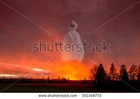 stock-photo-white-ghost-is-flying-in-sunset-cloud-331348772