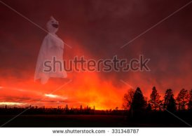 stock-photo-white-ghost-is-flying-in-sunset-cloud-331348787
