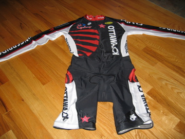 Front view of the long sleeve skinsuit.