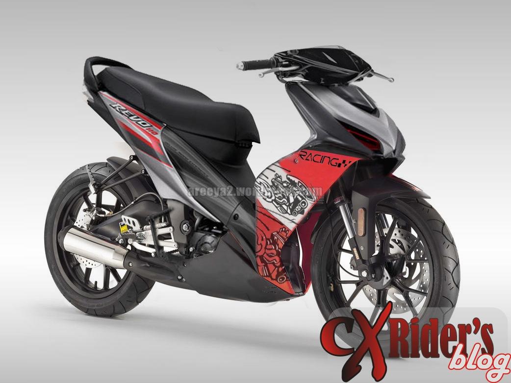Download Koleksi 63 Modifikasi Motor Honda Revo Dx Terkeren Pojok