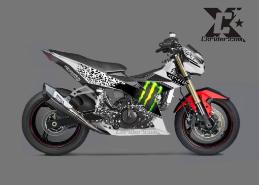 modifikasi-satria-injeksi-cutting-monster