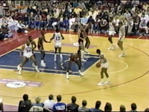Chicago Bulls vs. Philadelphia Sixers, en 1988