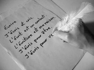 J'écris pour être...