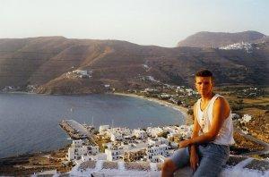 Village d'Aigiali sur l'île d'Amorgos