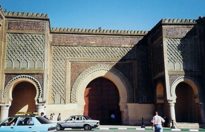 Meknès : la porte Bab Mansour el Aleuj