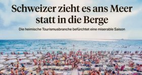 Schweizer zieht es ans Meer statt in die Berge (ePaper, Login notwendig)