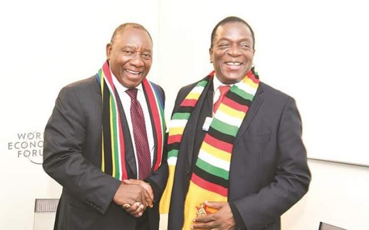 President Mnangagwa with South African President Cyril Ramaphosa