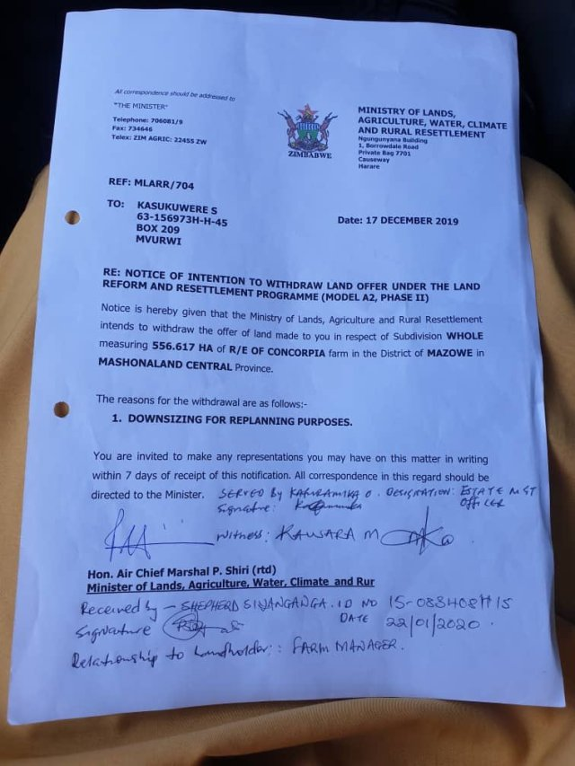 Saviour Kasukuwere Withdrawal Letter,Kasukuwere Cries Foul