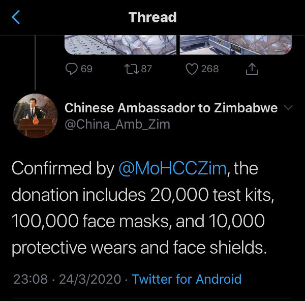 Zimbabwe And China Issue Contradicting Numbers