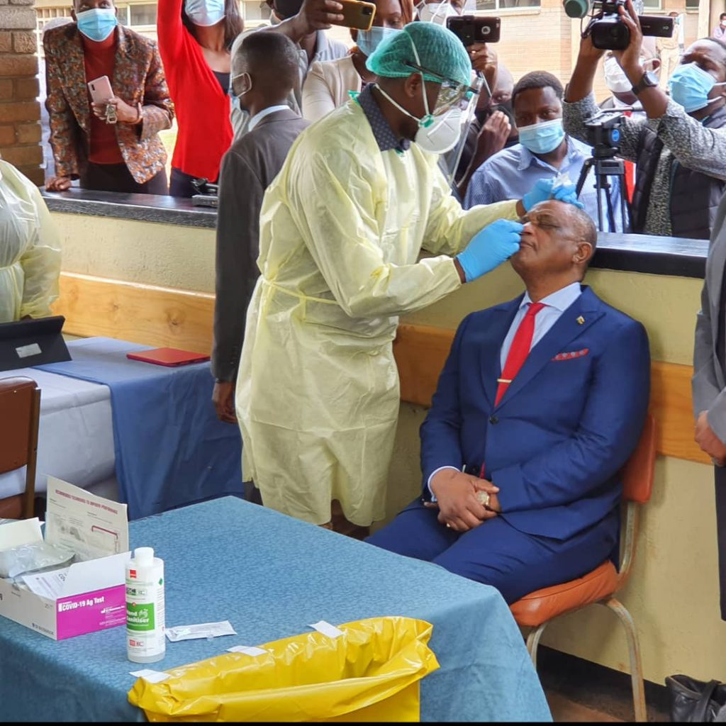 VP Chiwenga Becomes The First To Receive Vaccine In Zimbabwe