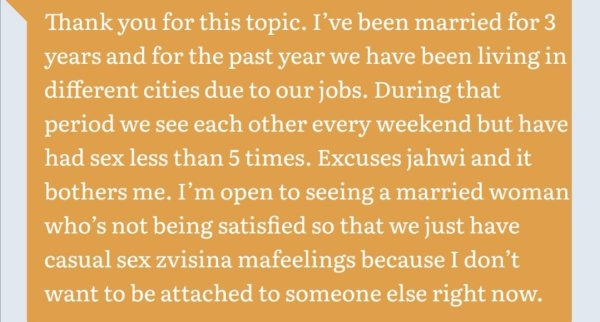 Partner Not Interested In Physical Intimacy: Zimbabwean Couples Open Up On Contentious Bedroom Issues