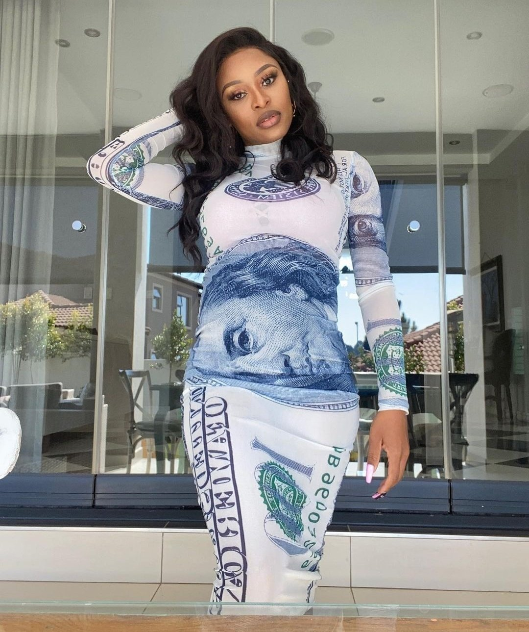 DJ Zinhle Shows Off First Pictures Of Her Baby Bump