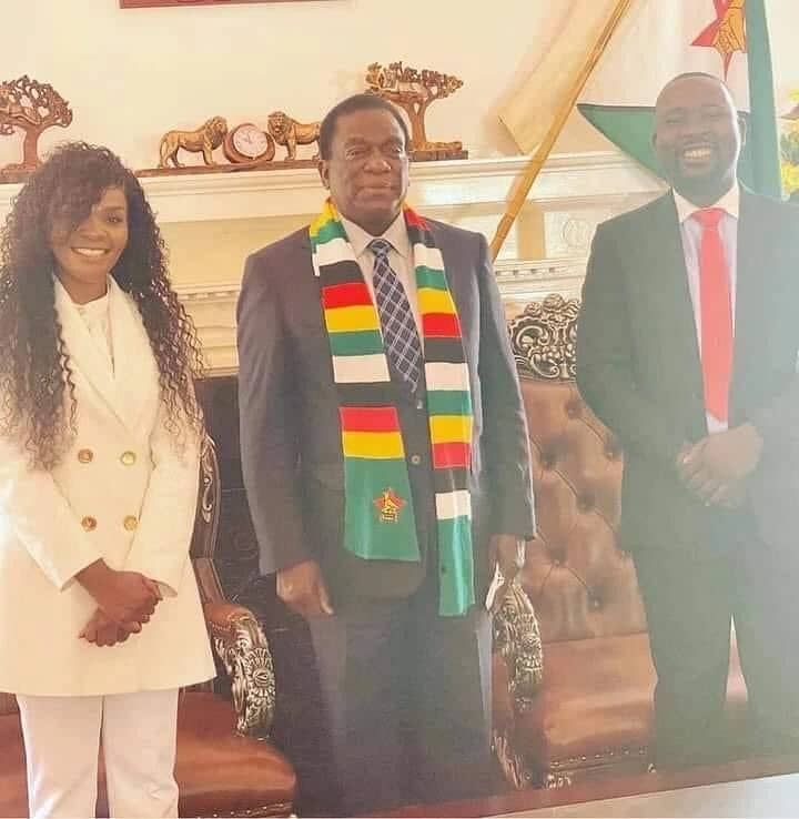 Comedian Mai Titi Meets President Emmerson Mnangagwa