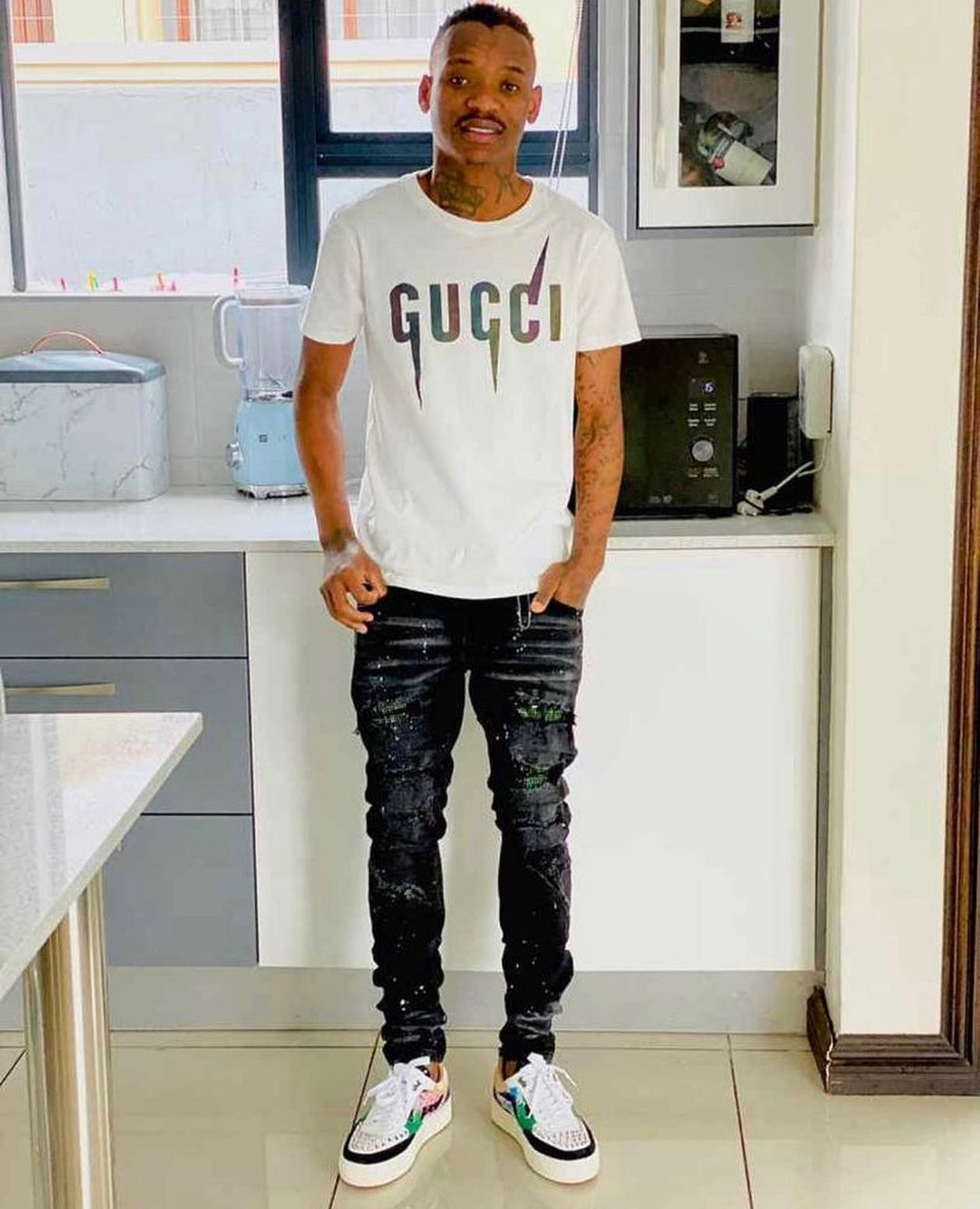 Khama Billat Called Out For Wearing Fake Gucci T-shirt-iHarare