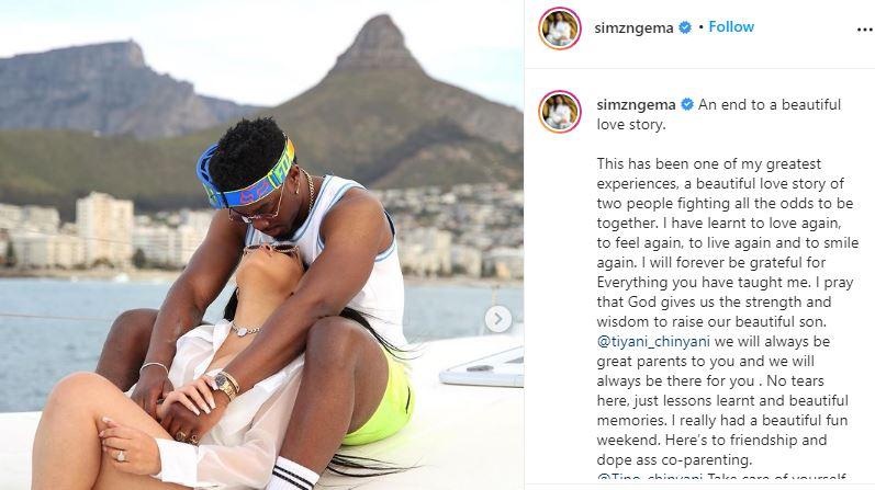 Simz Ngema And Tino Chinyani Break Up