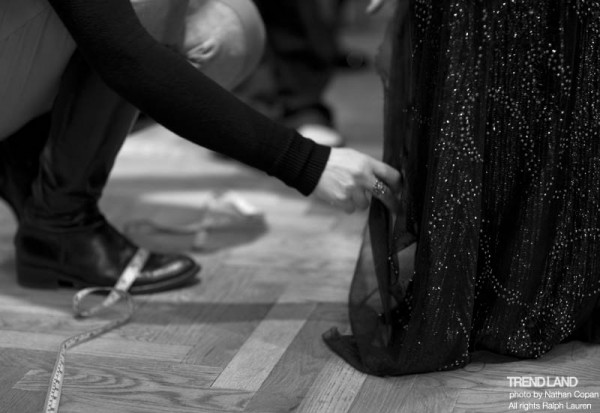 ralph lauren backstage nyfw10 10 600x413 From The First Sketches to the Runway: Exclusive Ralph Lauren Backstage
