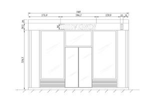 Façade du magasin pour la demande de travaux