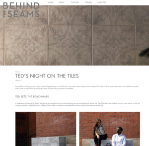 The Ted Baker 'Night On The Tiles' images on Behind The Seams blog