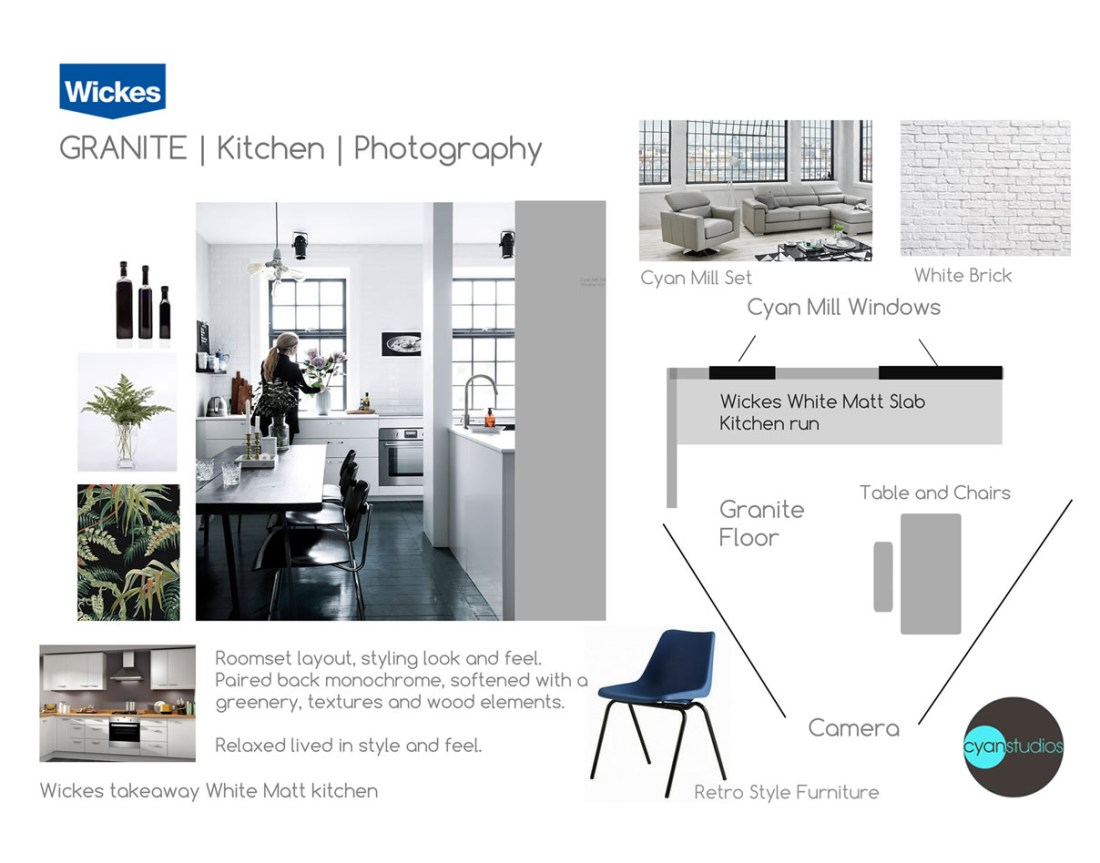 Wickes Granite Photography Kitchen styleboard