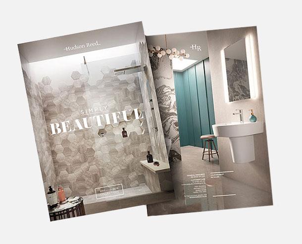 CGI bathroom images used in Hudson Reed Brochure