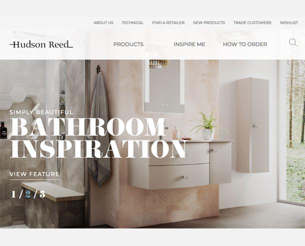 CGI bathroom images used in Hudson Reed Website