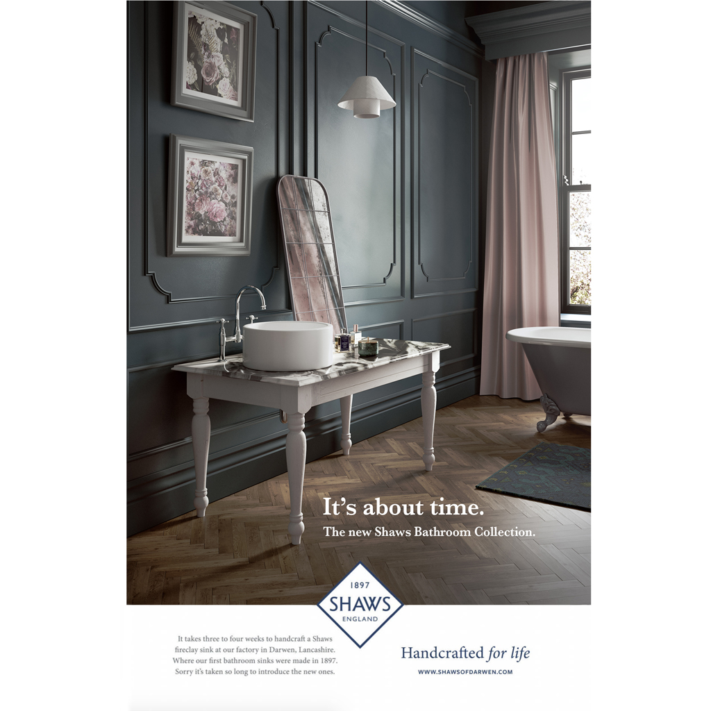 CGI bathroom images used in Hudson Reed Brochure