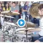 台湾の若き天才女性ドラマーS.Whiteさんによるパフォーマンス映像。
