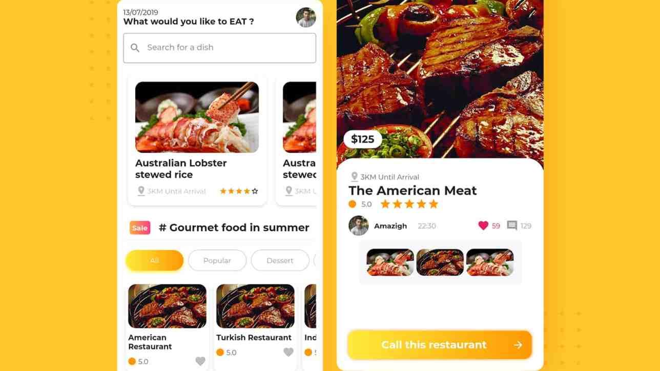 Flutter Tutorial Restaurant Finder App Ui Cybdom