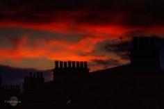 Sunrise over Inverness chimneys