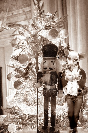 the mouse queen ( Miss T) sneaks up on the Nutcracker