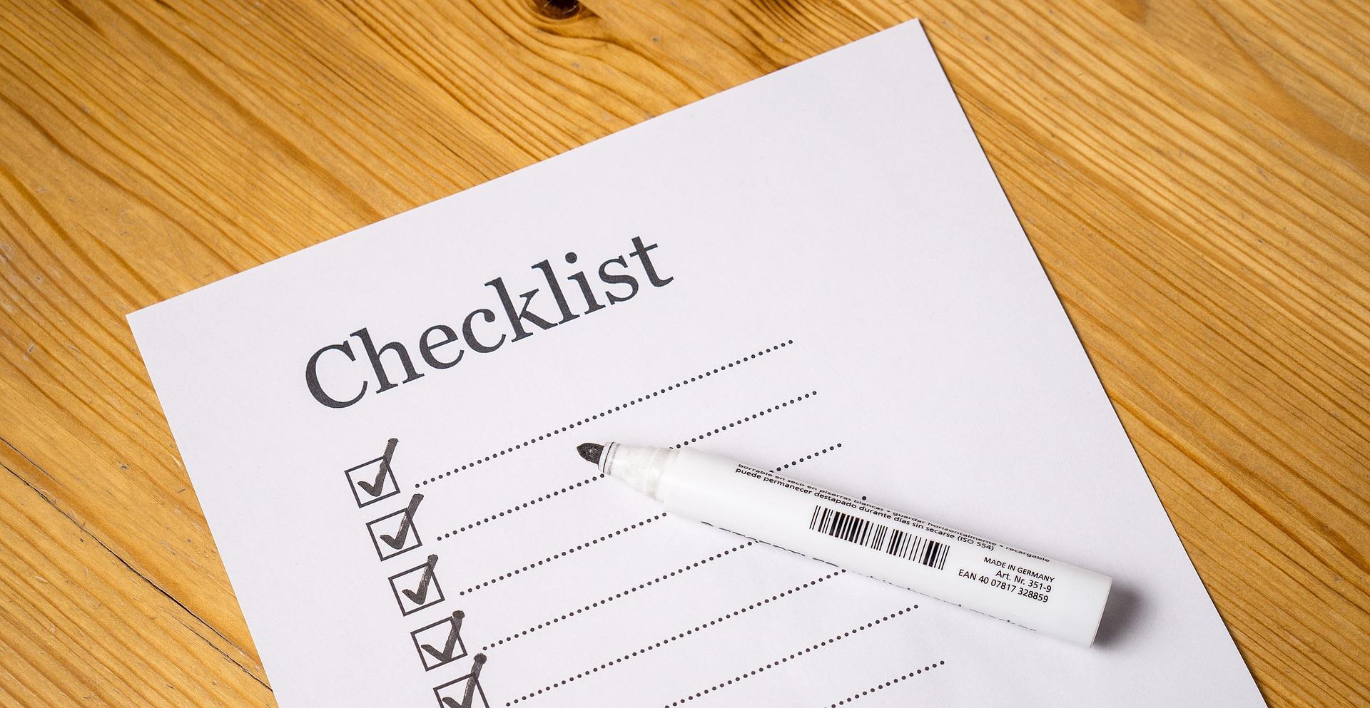 Screenplay Formatting Checklist