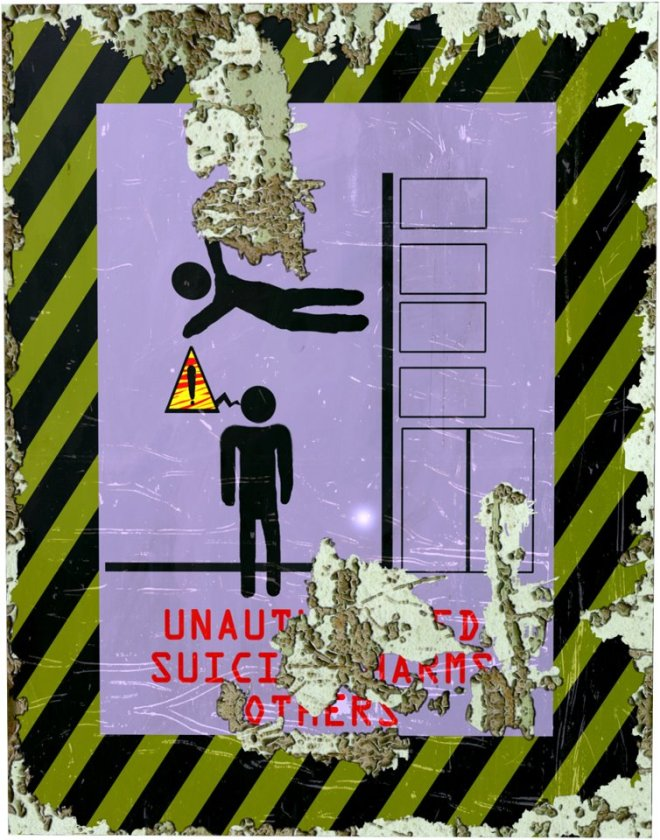 Mock authoritarian anti-suicide poster