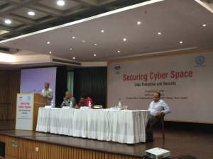 Panellists for Session - 3 (From L to R: SK Bhalla on the mic, Dr Shubho Ray, Nikhil Pahwa, Pavithran Rajan)