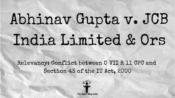 Abhinav Gupta v. JCB India Limited & Ors