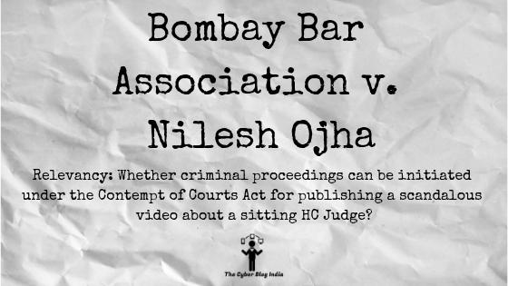 Bombay Bar Association v. Nilesh Ojha