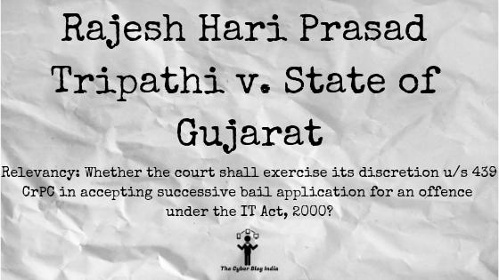 Rajesh Hari Prasad Tripathi v. State of Gujarat