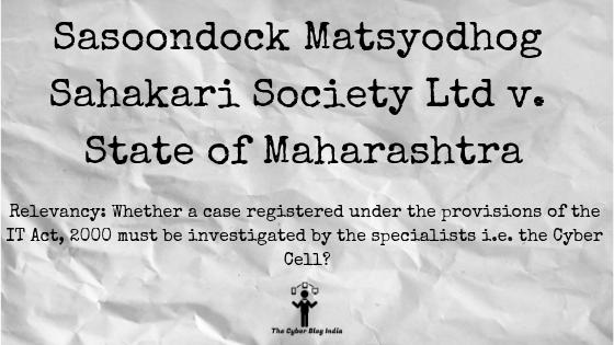 Sasoondock Matsyodhog Sahakari Society Ltd v. State of Maharashtra