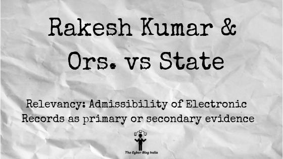 Rakesh Kumar & Ors. vs State