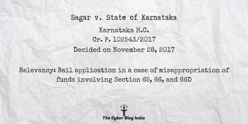 Sagar v. State of Karnataka