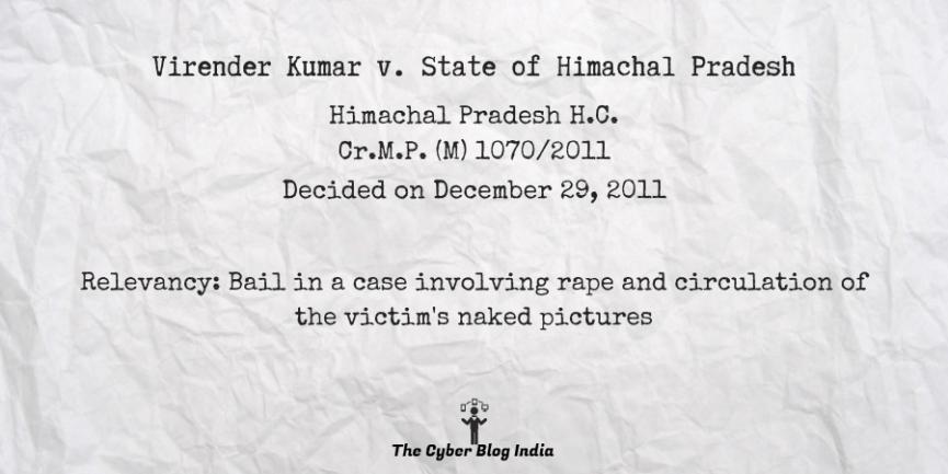 Virender Kumar v. State of Himachal Pradesh