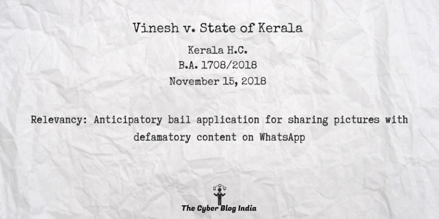 Vinesh v. State of Kerala