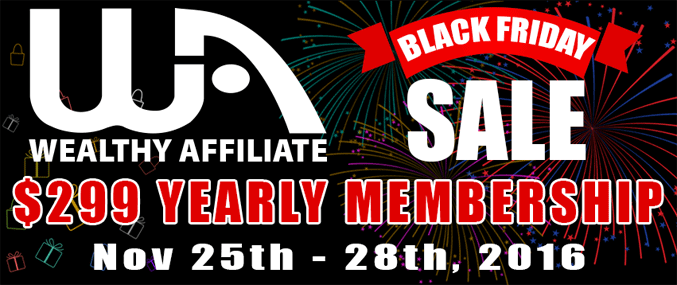 Wealthy Affiliate Black Friday Deal 2016