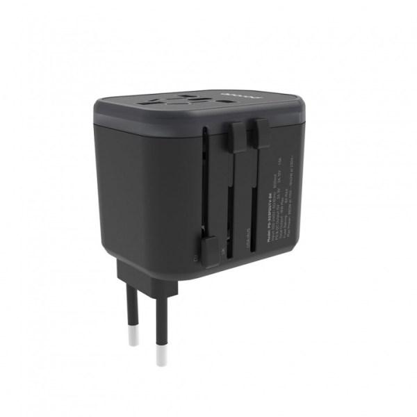 porodo dual port universal travel charger qc3.0 2