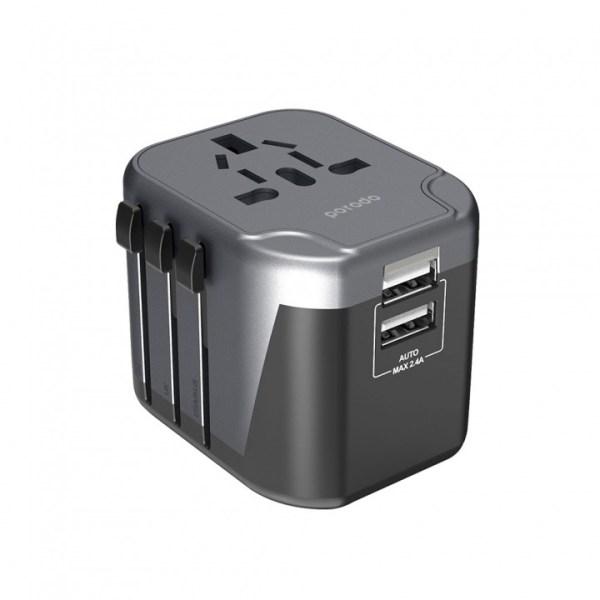 porodo dual usb port universal travel adapter 1