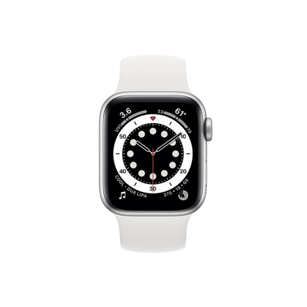 Apple Watch Series 6 42mm Silver Aluminum GPS White Solo Loop 1