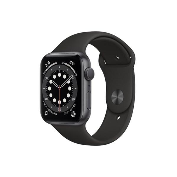 Apple Watch Series 6 42mm Space Gray Aluminum GPS Black Sport Band