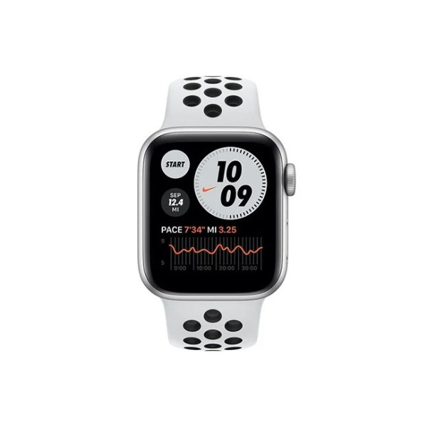 Apple Watch Series 6 Nike 44MM Silver Aluminum GPS Pure Platinum Black Nike Sport Band 1