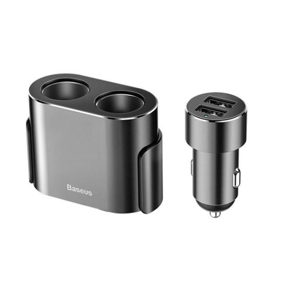 Baseus High Efficiency 2 in 1 Cigarette Lighter with Dual USB Car Charger MAIN