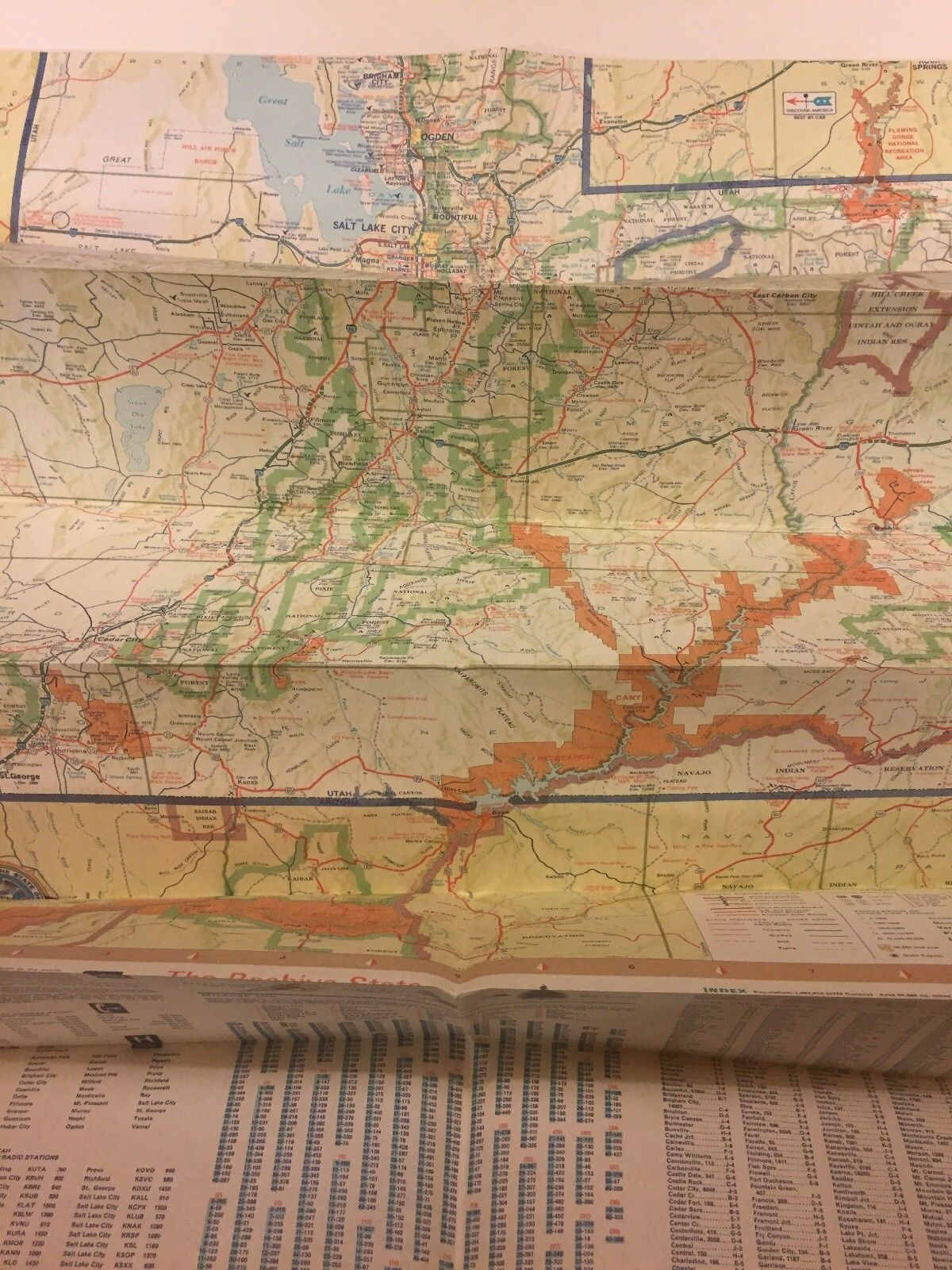 Utah Official Highway Map State Road Commission 1974 MINT FREE SHIPPING